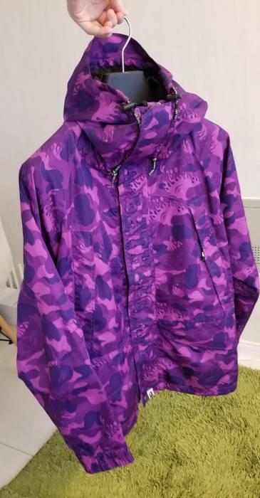 1ac1176b8633 Bape. Bape OG Purple Flame Camo Snowboard Jacket. Size  US M   EU 48-50   2