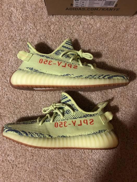 bf192f3e573d1 Adidas Adidas Yeezy 350 Boost V2 Semi Frozen Yellow 10.5 Size US 10.5   EU  43