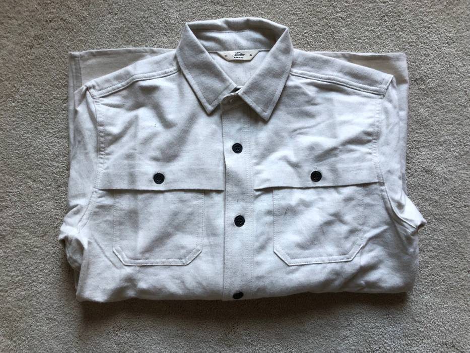 e9c3616671b 3sixteen Ivory Flannel Hunting Shirt Size m - Shirts (Button Ups ...