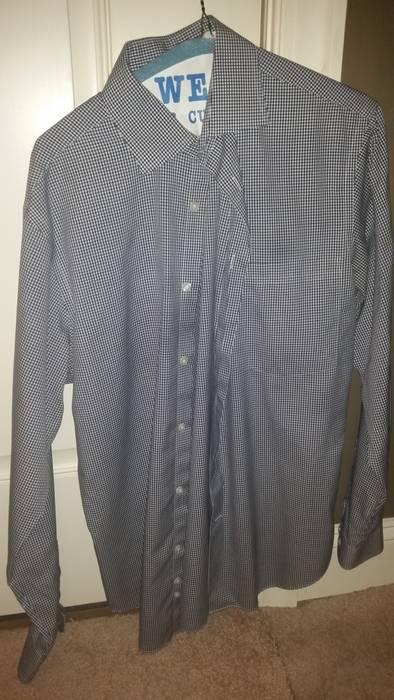 c1aeb1a911 Bloomingdales Men Store Non Iron Blue-White Check Shir Size m ...