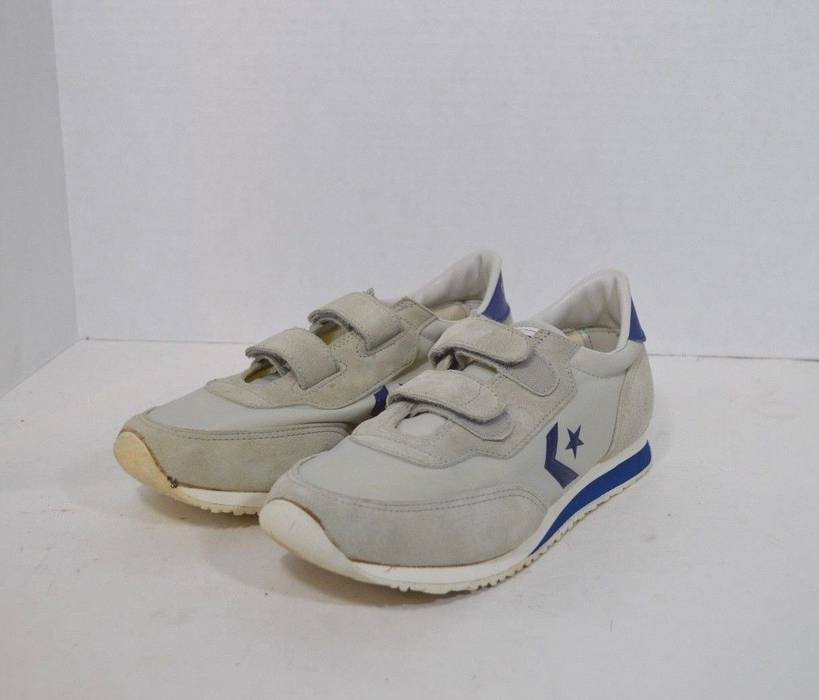 Vintage Vintage 80s Deadstock CONVERSE Mens 7.5 Suede Strap Dad Shoes Gray  Blue Korea Size US 1294c0edf