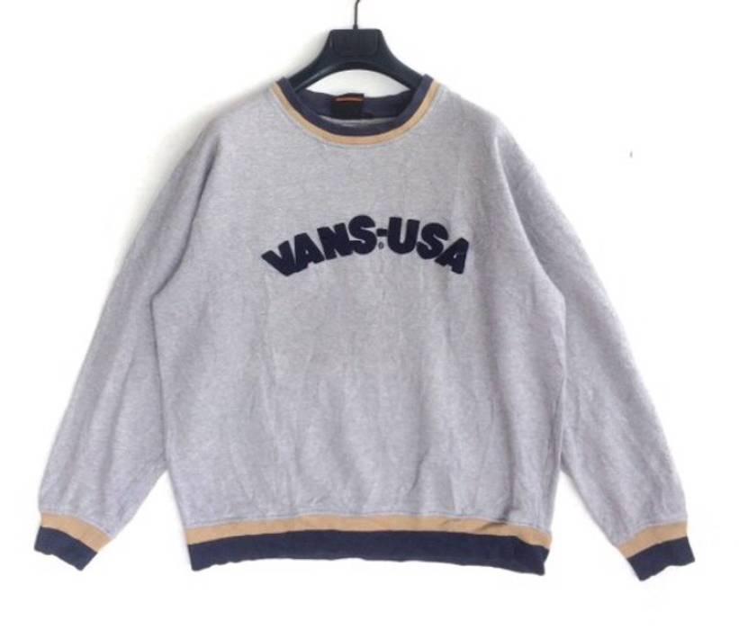8ce6260595 Vans. Vintage 90 s Vans USA Embroidery Sweatshirt. Size  US L   EU 52-54   3