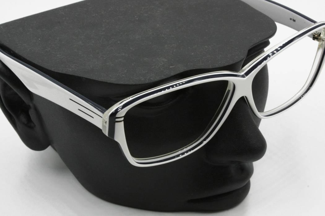 f9dab3ae18a Luxottica Luxottica vintage rectangular eyeglasses sunglasses frame white    blue