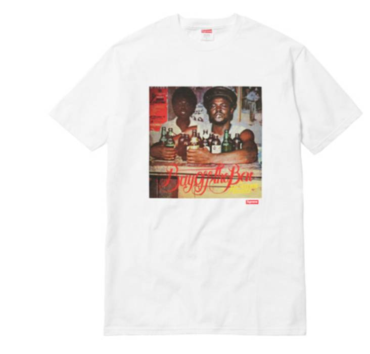 4d6799fc170b Supreme Supreme x Limonious Buy Off The Bar Tee White Size m - Short ...