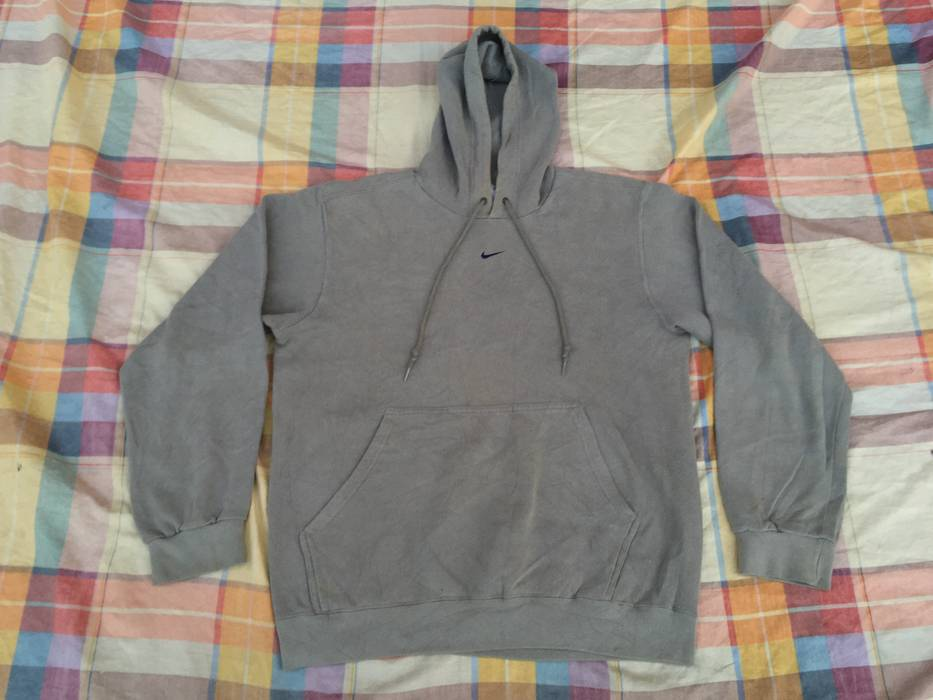 Nike. Vintage NIKE SWOOSH LOGO Made In MEXICO Men Gray Medium Hoodie  Sweatshirt Hooded e6ffee6de95e