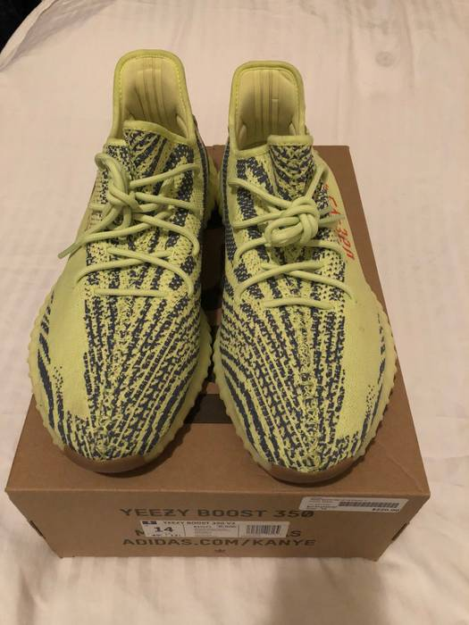 "319b83eed59e Adidas Kanye West Yeezy Boost 350 V2 ""Semi Frozen Yellow"" Size 14 Size US"