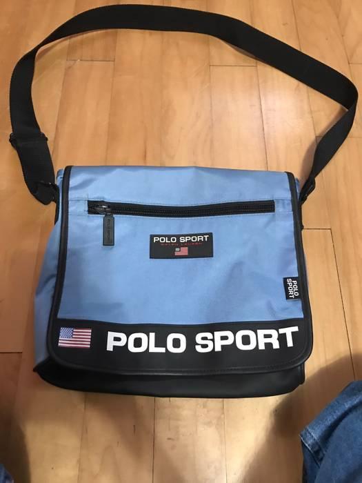 6bd34ee865dd Polo Ralph Lauren. Vintage Polo Ralph Lauren Baby Blue Polo Sport Shoulder  Bag. Size  ONE SIZE