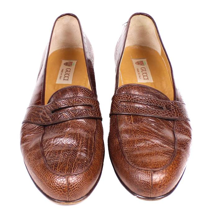89bf5052cf Gucci Ostrich Leather Loafers Size 9.5 - Formal Shoes for Sale - Grailed