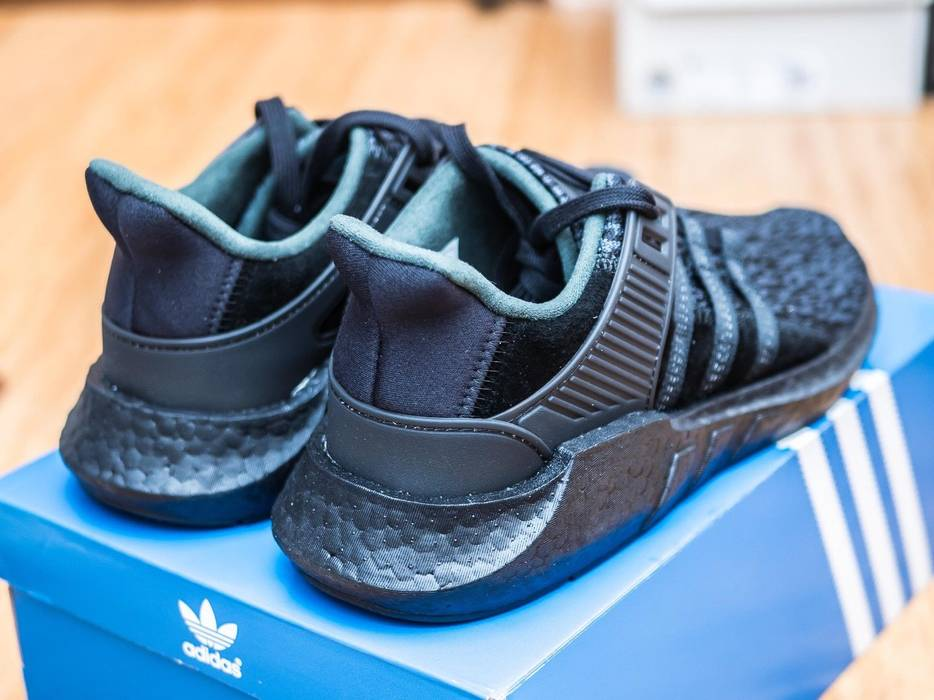 93a4c29a087 Adidas Adidas EQT Support 93 17 Core Triple Black BY9512 8.5 Boost Yeezy  NMD Supreme