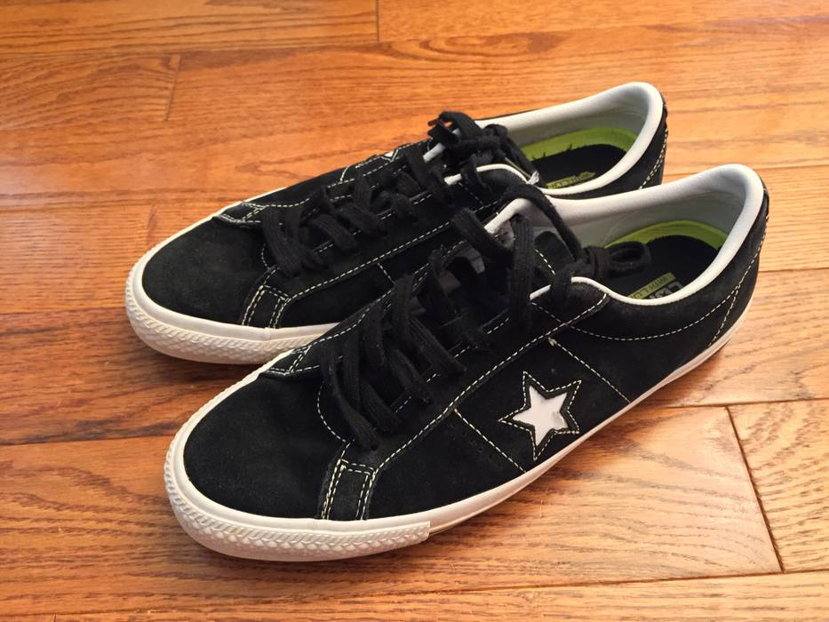 e42d2ee52f0786 Converse. CONS One Star Pro Low Top Lunarlon Skateboarding Shoe Black White
