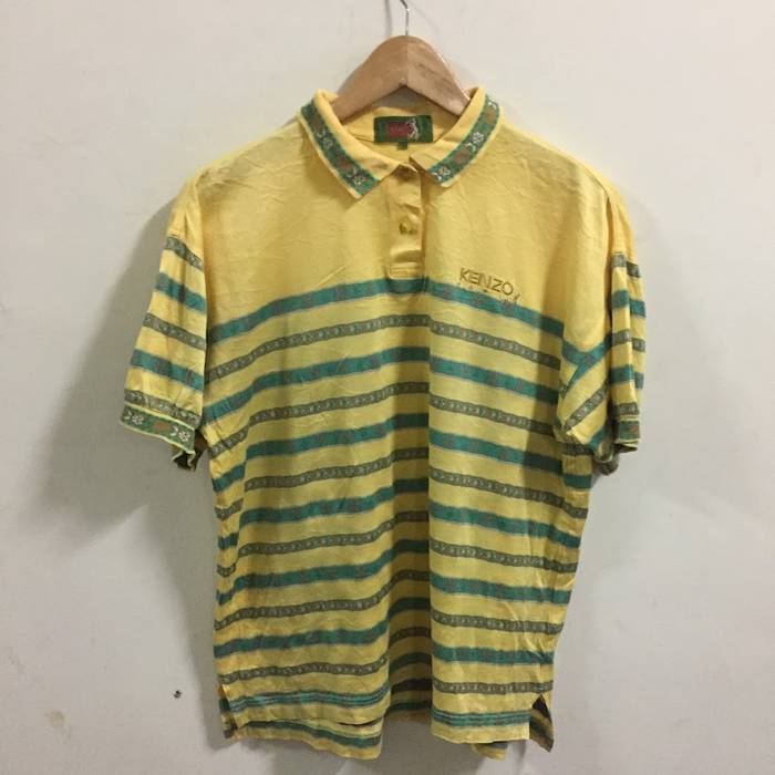 7efe8b24 Kenzo Kenzo Paris Golf Shirt Polo Size 2 Size L Yellow s/s Size l ...