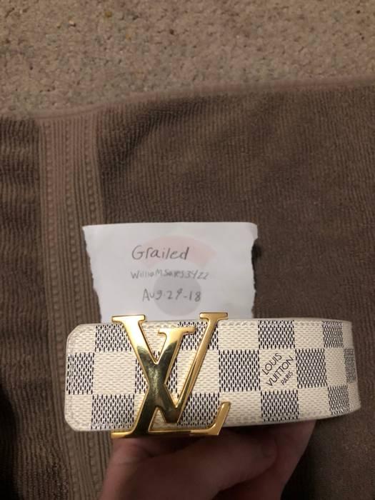 1384a17295e20 Louis Vuitton Damier Azur Size 34 Size 34 - Belts for Sale - Grailed