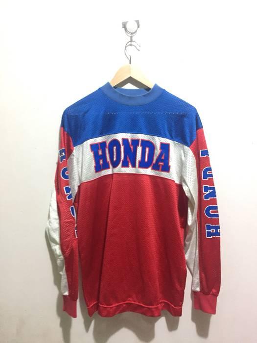 Vintage Honda Motorcycle Japan Jersey Size M Long Sleeve T Shirts