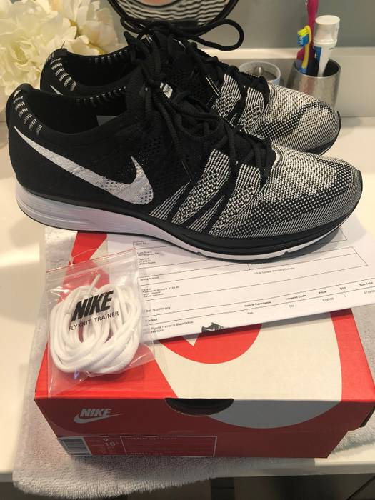 d6872245db624 Nike Nike Flyknit Trainer Black White Size 9 - Low-Top Sneakers for ...