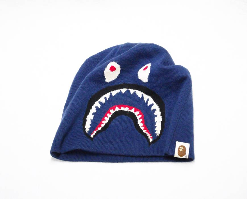 Bape Bape Shark Beanie Size one size - Hats for Sale - Grailed ae6d8ddd27b