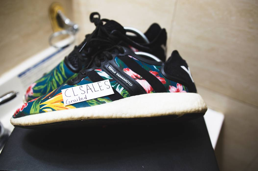 35caec471 Y-3 Y-3 Floral Retro Boost Size 7.5 - Low-Top Sneakers for Sale ...