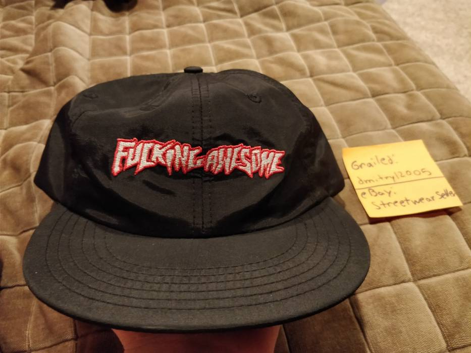 Fucking Awesome Fucking Awesome Snapback Hat Cap Black Supreme Size ... ab473733d18
