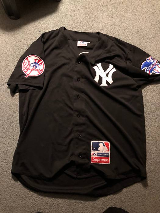 Supreme Supreme X Majestic Yankees Jersey Size xl - Jerseys for Sale ... 6f51079ecb1