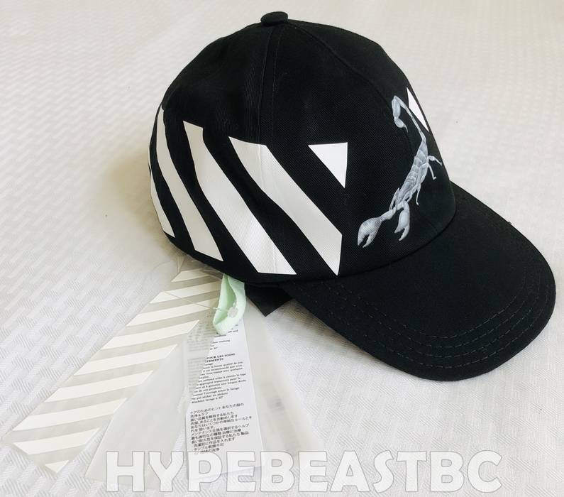 fbaf9888617 Off-White OFF WHITE c o VIRGIL ABLOH Othelo Scorpion Cap Baseball Dad Hat