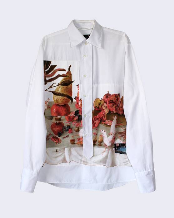 5c633bc14df3 Prada Christophe Chemin  Banquet Thieves  Print Shirt Size s ...