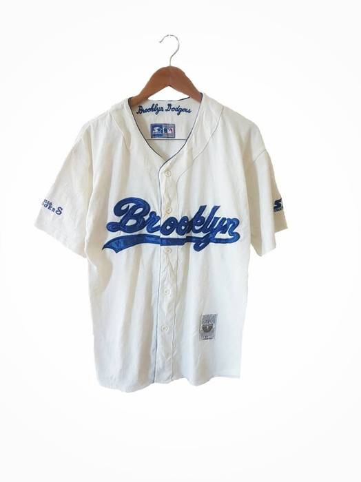 Starter. Free shipping! Vintage Brooklyn Dodgers Embroidered Starter  Baseball Jersey a7fc9767fc1