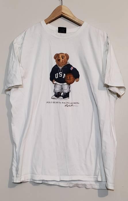 12e89a803 Polo Ralph Lauren Vintage Polo Bear Basketball Sport Bear Men Sz L Polo  Sport Polo stadium