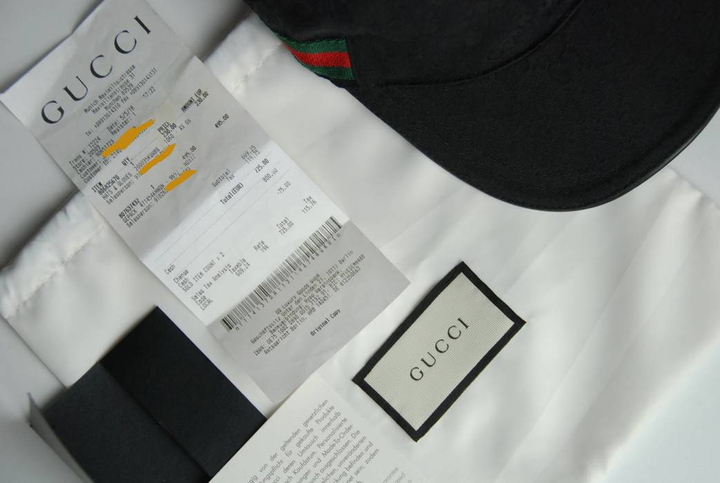 Gucci Need gone today! Gucci Black Canvas Hat + Receipt Size ONE SIZE e6b71be6250