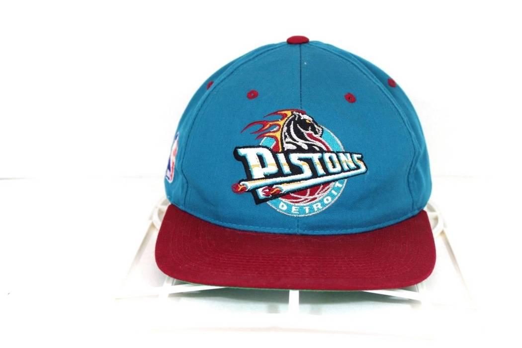 184e48a6d9236e ... switzerland vintage vintage 90s sports specialites detroit pistons  horse logo snapback hat cap teal size one