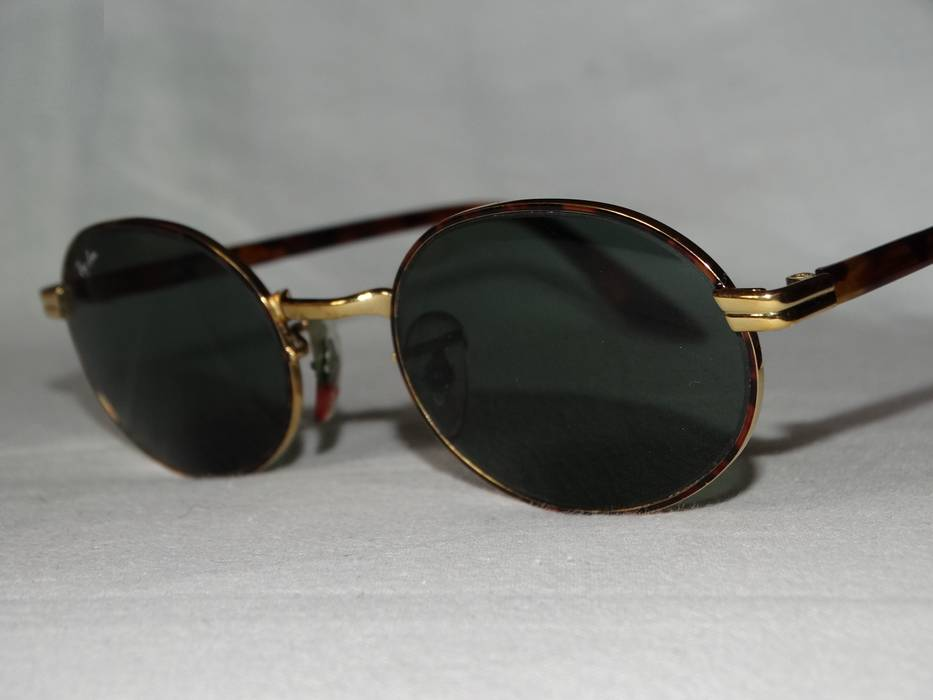 e2da929c0fd RayBan Ray ban x Bausch Lomb vintage oval sunglasses gold brown w  pouch  rare unisex