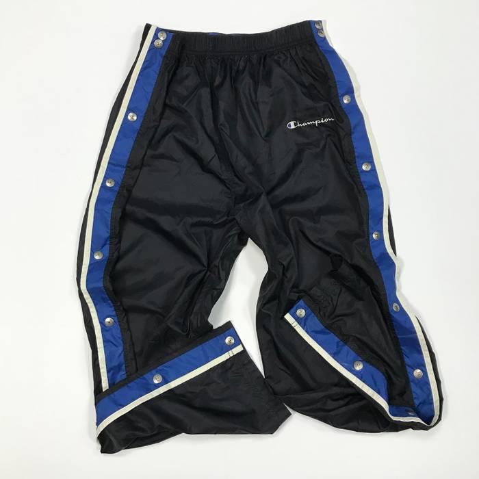 22ff13ccedece Champion Vintage Champion Spell Out Tear Away Track Pants Black Blue Mens  Size XL Vtg 90s