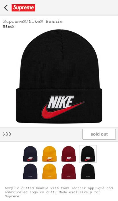 Supreme Nike Beanie Black Size one size - Hats for Sale - Grailed 848522413718