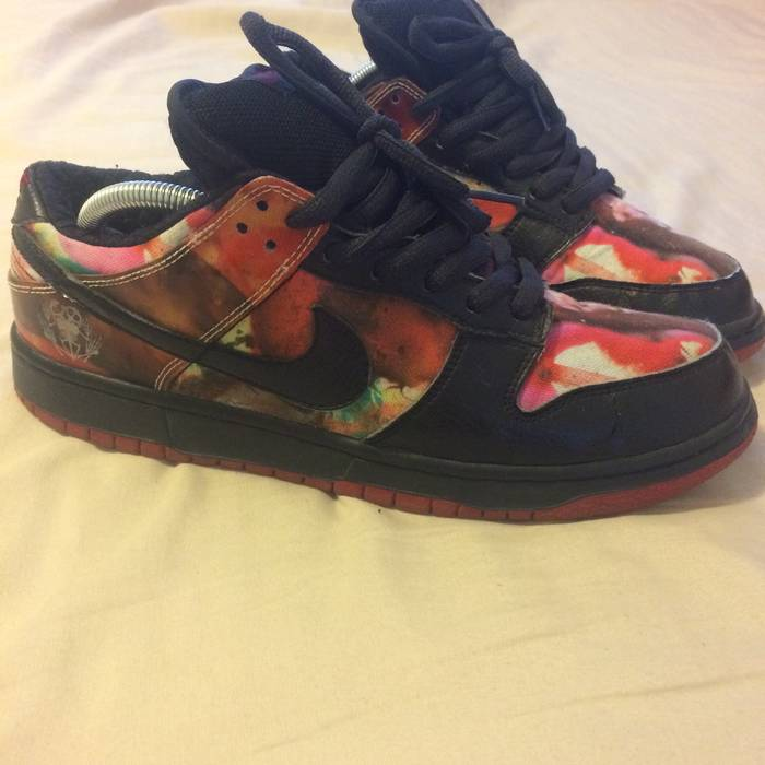 Nike NIKE SB DUNK LOW 9 PUSHEAD 1 RED BLACK 2 BRED janoski supreme ... 765240806
