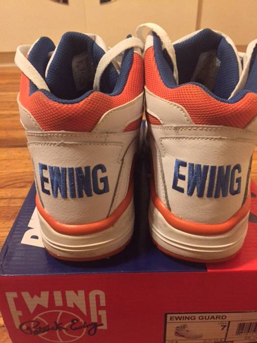 Ewing Athletics KITH Ewing 33 Guard Mid - Knicks Orange Blue   White ... f91eb6ea7