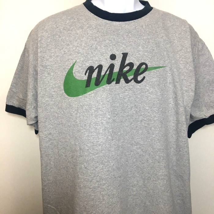 f72998a79c7 Nike Nike T Shirt Vintage 90 s Ringer Adult Tee USA Made Unisex Adult Gray  Classic Logo