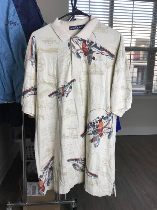 Vintage Nautica Airplane Polo Shirt Xl Size Xl Polos For Sale