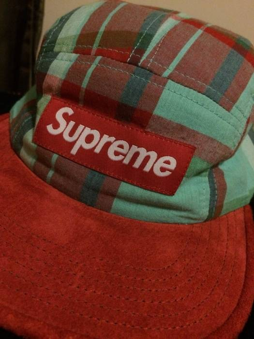 Supreme Supreme Plaid Hat Size one size - Hats for Sale - Grailed 298f1c36b02