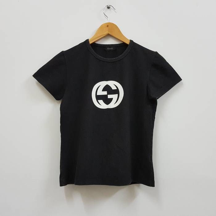 0f8e7856dca Gucci Vintage GUCCI big logo design black t-shirt made in italy for ...