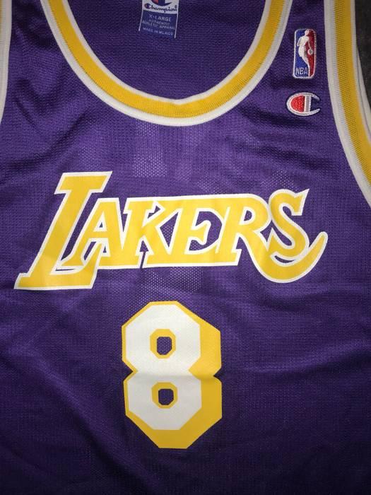 Champion Kobe Bryant Los Angeles Lakers 8 Away Jersey Size US XL   EU 56   616c85e8eaff