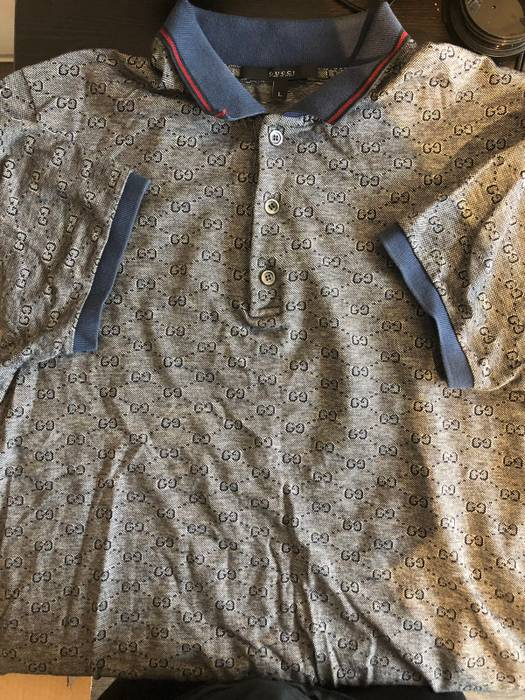 Gucci Gucci Monogram Polo Shirt Size L Polos For Sale Grailed