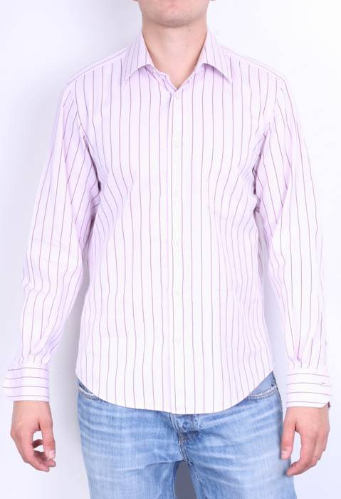 ee40f0d1c Hugo Boss. Hugo Boss Mens 15.75/40 XL Casual Shirt Pink Striped Two Ply ...