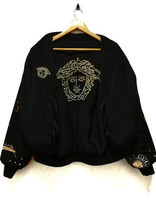 ca8a3a8375d9f Versace 🔥Vintage Versace Medusa Golden Logo Riversible Bomber ...