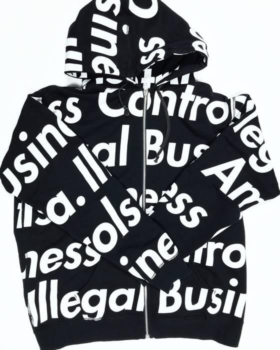 e28f2d0615ef Supreme Supreme Illegal Business Controls America Zip Up Black Size US XL    EU 56