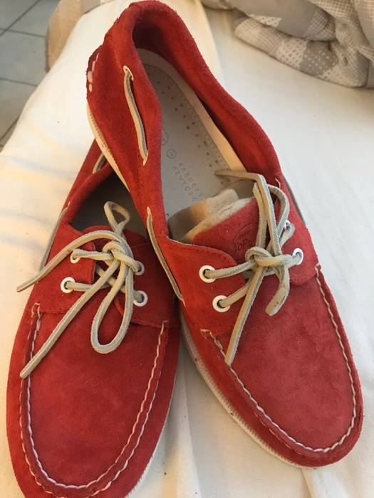 Barneys New York Red Suede Topsider Size 12 - Casual Leather Shoes ... dfe3789acc79