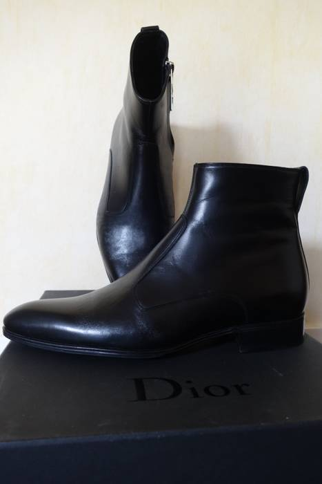 d04a511af84c Dior DIOR HOMME - Chaussures Shoes Boots Calfskin Leather Black 39 40 6.5 7  Zip Size