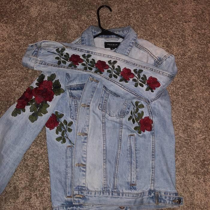 Pacsun Rose Denim Jacket Size M Denim Jackets For Sale Grailed