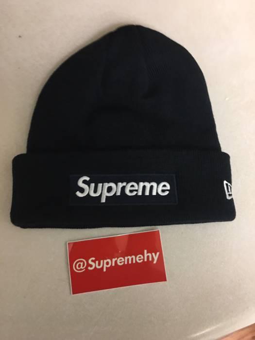Supreme Supreme Box Logo Beanie New Era FW15 NAVY Size one size ... 98be4dc69db5
