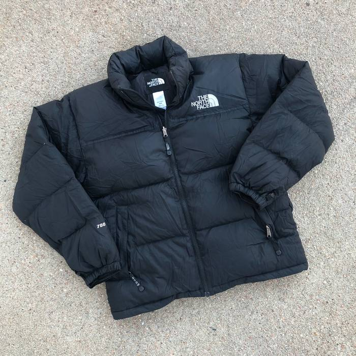 2083578550 Vintage Black The North Face 700 Goose Down Nuptse Puffy Puffer Down Zip Up Jacket  Size