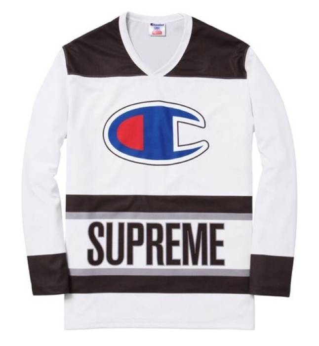 Supreme Supreme Champion Hockey Jersey Size m - Long Sleeve T-Shirts ... a357b66d4