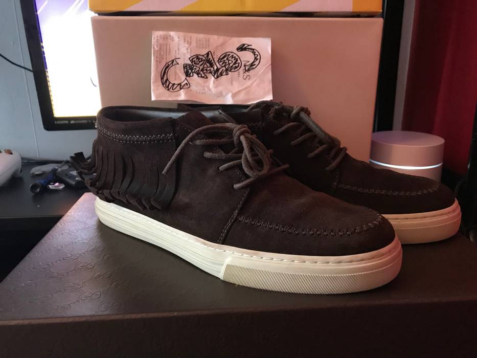 ee4711b7d52 Gucci Brown Suede Moccasin Size 9.5 - Low-Top Sneakers for Sale ...