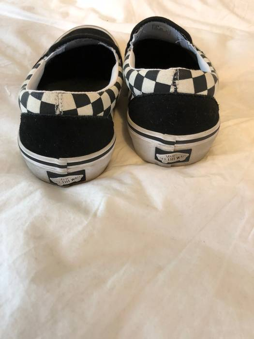 07c29532929 Vans Black Checkerboard Slip Ons Size 9.5 - Slip Ons for Sale - Grailed